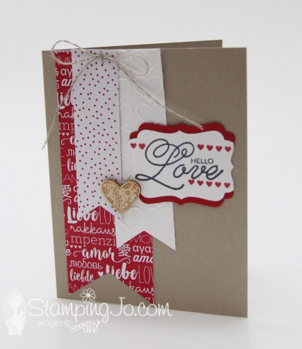 Sealed With Love, Stampin Up, Valentine card