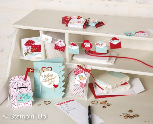 Sending Love Suite of stamp products and accessories, Stampin Up 2017 Occasions Catalogue, Visit www.StampingJo.com for details!