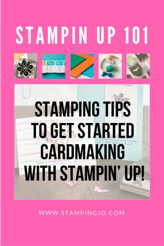 Stamping Tips for using Stampin Up stamps, cardstock, inks and accessories!