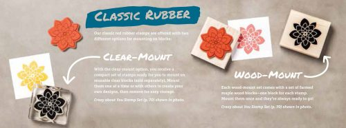 Stamping Tips: Classic Rubber, Wood vs Clear Mount