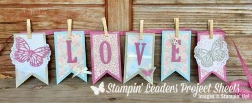 falling in love banner, valentine banner, anniversary banner, Stampin Up