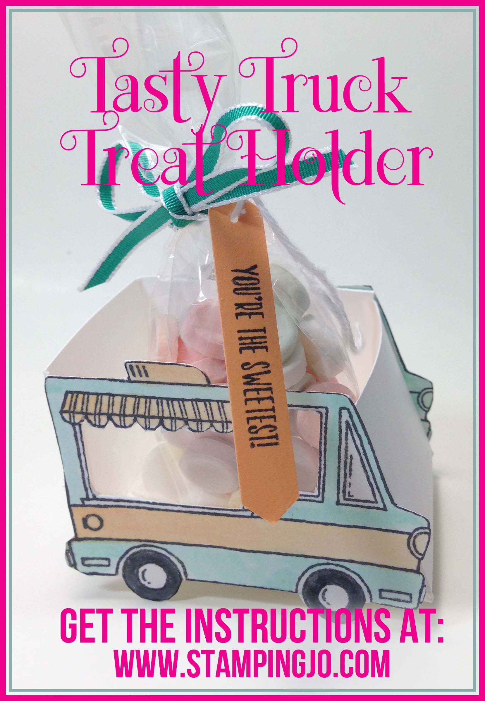 Tasty Truck treat box instructions, Tasty Truck Treat Holder Instructions