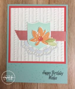 Avant Garden stamp set, Stampin Up, Sale-A-Bration, stamped card ideas