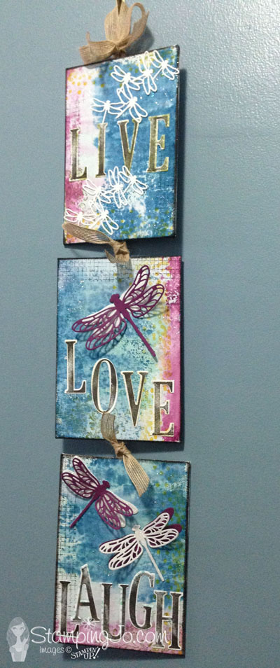 Detailed Dragonfly Thinlits, Stampin Up, Home Decor, Wall Canvas, Wall Art