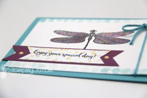 Dragonfly Dreams stamp set, Stampin Up, 2017 Occasions Catalogue, watercolor card