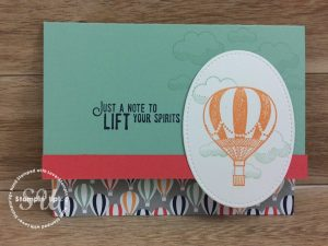 Lift Me Up stamp set, Stampin Up, 2017 Occasions Catalogue, hand stamped card