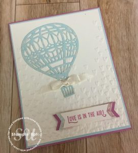 Lift Me Up, Up and Away Thinlits, hand stamped card