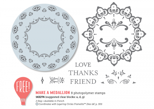 Make A Medallion stamp set, Stampin Up, Sale-A-Bration free products