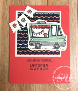 Tasty Truck stamp set, Stampin Up, Sale-A-Bration, stamped card ideas