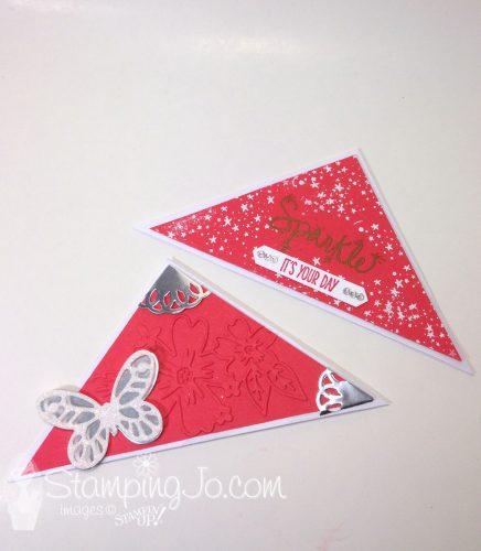 envelope corner bookmark,Love Sparkles,Bold Butterfly Framelits, Butterfly Thinlits, Floral Affection Textured Impressions Embossing Folder, Silver Metallic Foil Doilies Stampin Up
