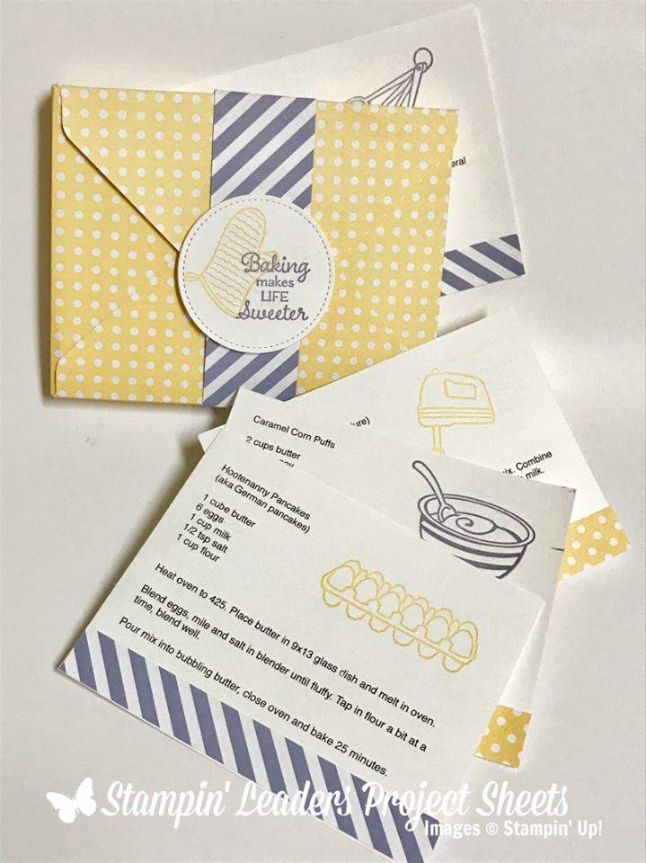 Perfect Mix stamp set, Stampin Up, 2017 Occasions Catalogue, recipe cards, diy recipe cards