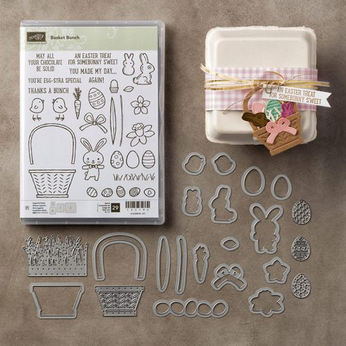 Basket Bunch stamp set, Basket Builder Framelits Dies, Stampin Up, 2017 Occasions Catalogue, Easter cards, Easter crafts