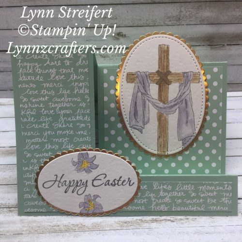 Easter Message stamp set, Stampin Up, hand stamped Easter cards