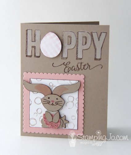 Easter card using Foxy Friends and Fox Builder punch, Happy Celebrations stamp set , Stampin Up