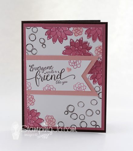 Friendship card, Oh So Succulent stamp set, Suite Sentiments stamp set, Stampin Up