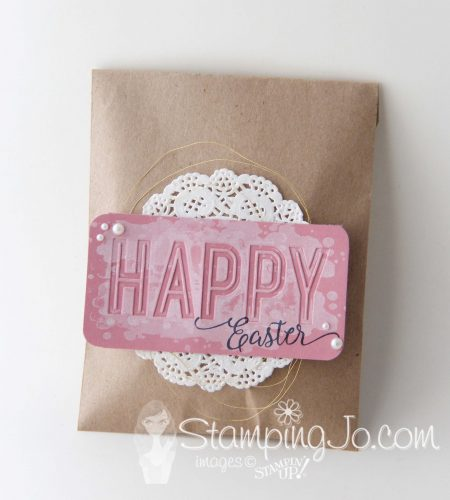 Easter treat bag idea using Celebration Duo Embossing Folder