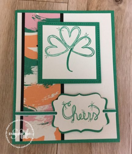 Cheers to St.Patty's day! Love Sparkles Stamp set, Stampin Up