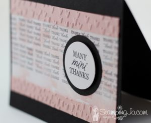 Stamped Thank You card, Stampin Up, Suite Sentiments stamp set, Happy Celebrations stamp set