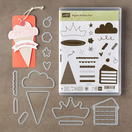 Biggest Birthday Ever stamp set, Wish Big Framelits, Stampin Up