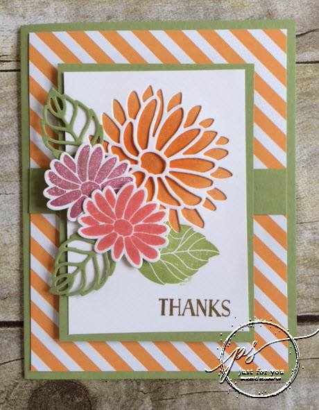Special Reason stamp set, Stampin Up, stamped thank you card