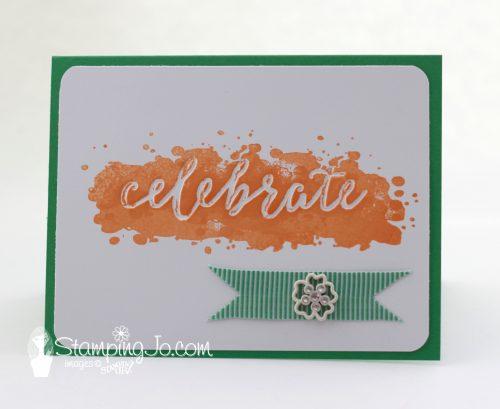 Happy Celebrations stamp set: Celebrate Card