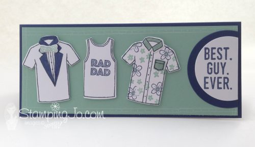 Designer Tee stamp set, Stampin Up, Father's Day card idea