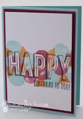 Another stamped birthday card- Happy Celebrations stamp set