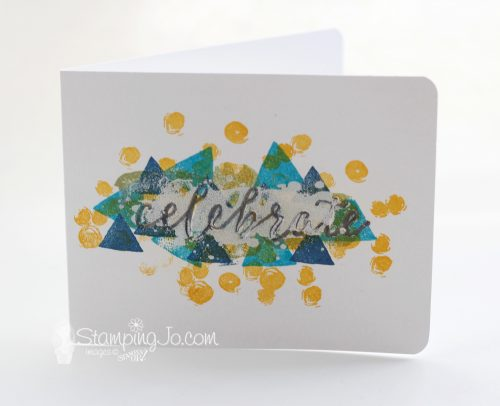 Quick and Easy No Layer Card: Happy Celebrations Stamp Set