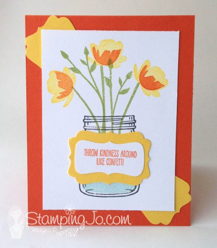 Jar of Love stamp set, Stampin Up, Decorative Label punch, stamped card