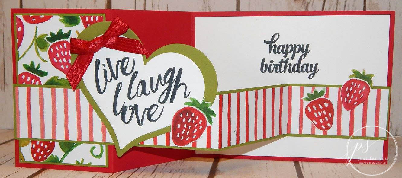Layering Love stamp set, Stampin' Up, double z card,stamped card