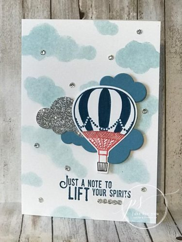 Lift Me Up stamp set, Stampin Up, stamped note card