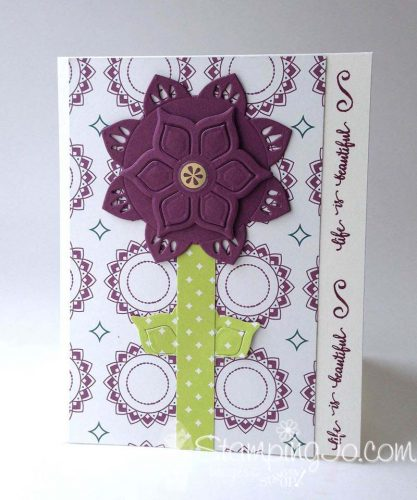 Eastern Palace Suite, Flower card, Stampin UP