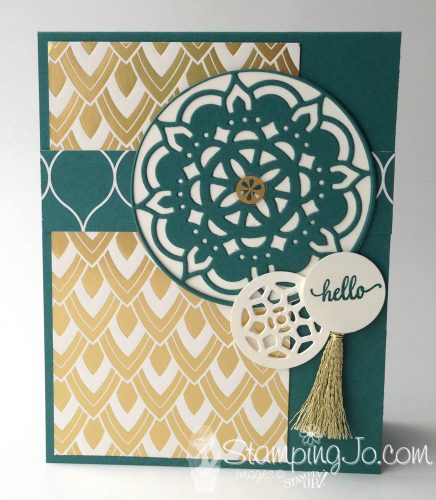Eastern Palace Suite card, Stampin Up, handmade card idea