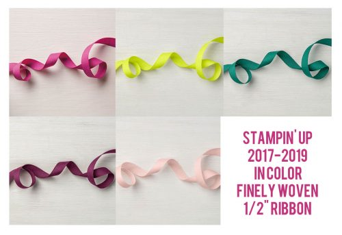 In Color Woven Ribbon, Stampin Up, papercrafting accessories
