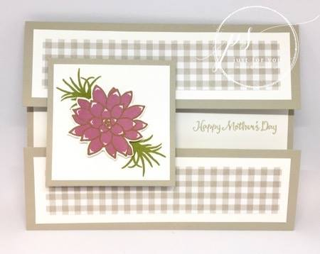 Oh So Succulent stamp set, Stampin Up, Mother's Day card,peekaboo gatefold