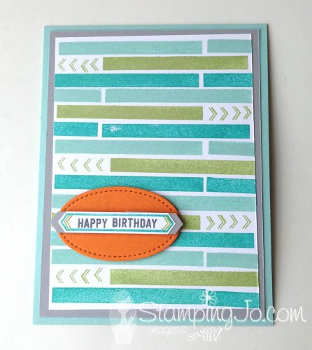 Thoughtful Banners stamp set: Masculine Birthday Card