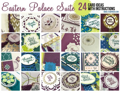 Eastern Palace Suite, Stampin Up, card ideas, card instructions