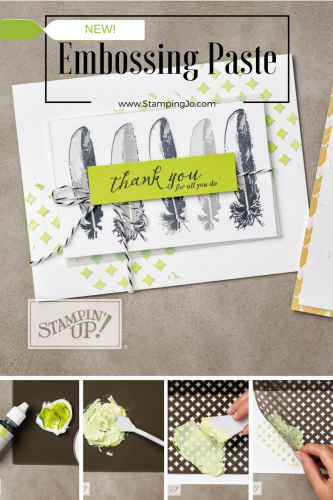 How to use Embossing Paste and stencils, Stampin Up