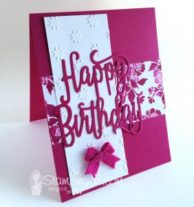 Berry Burst, In Color, Stampin Up, handmade birthday card