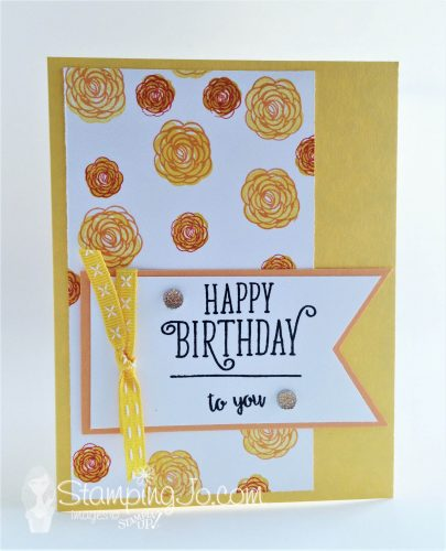 Happy Birthday card using Happy Birthday Gorgeous stamp set, Stampin Up