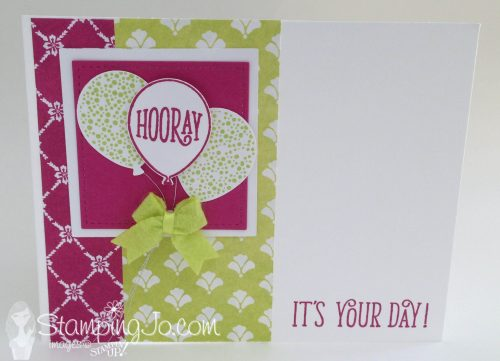 Happy Birthday Gorgeous, Stampin Up, hand stamped birthday card