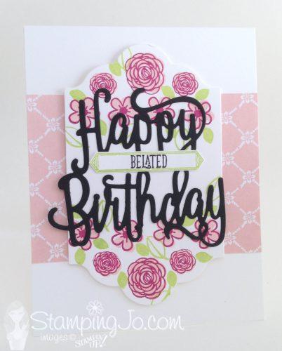 Happy Birthday Gorgeous, Stampin Up, birthday card, belated happy birthday card