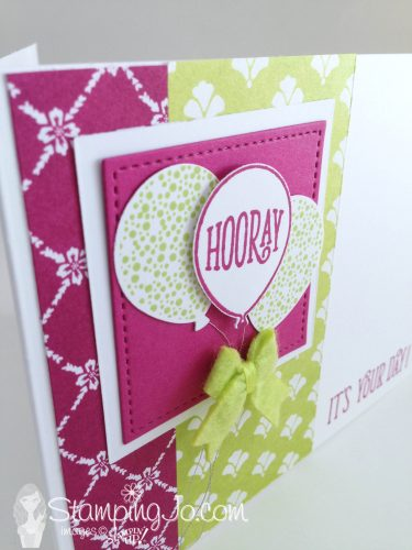 Happy Birthday Gorgeous, stamped birthday card