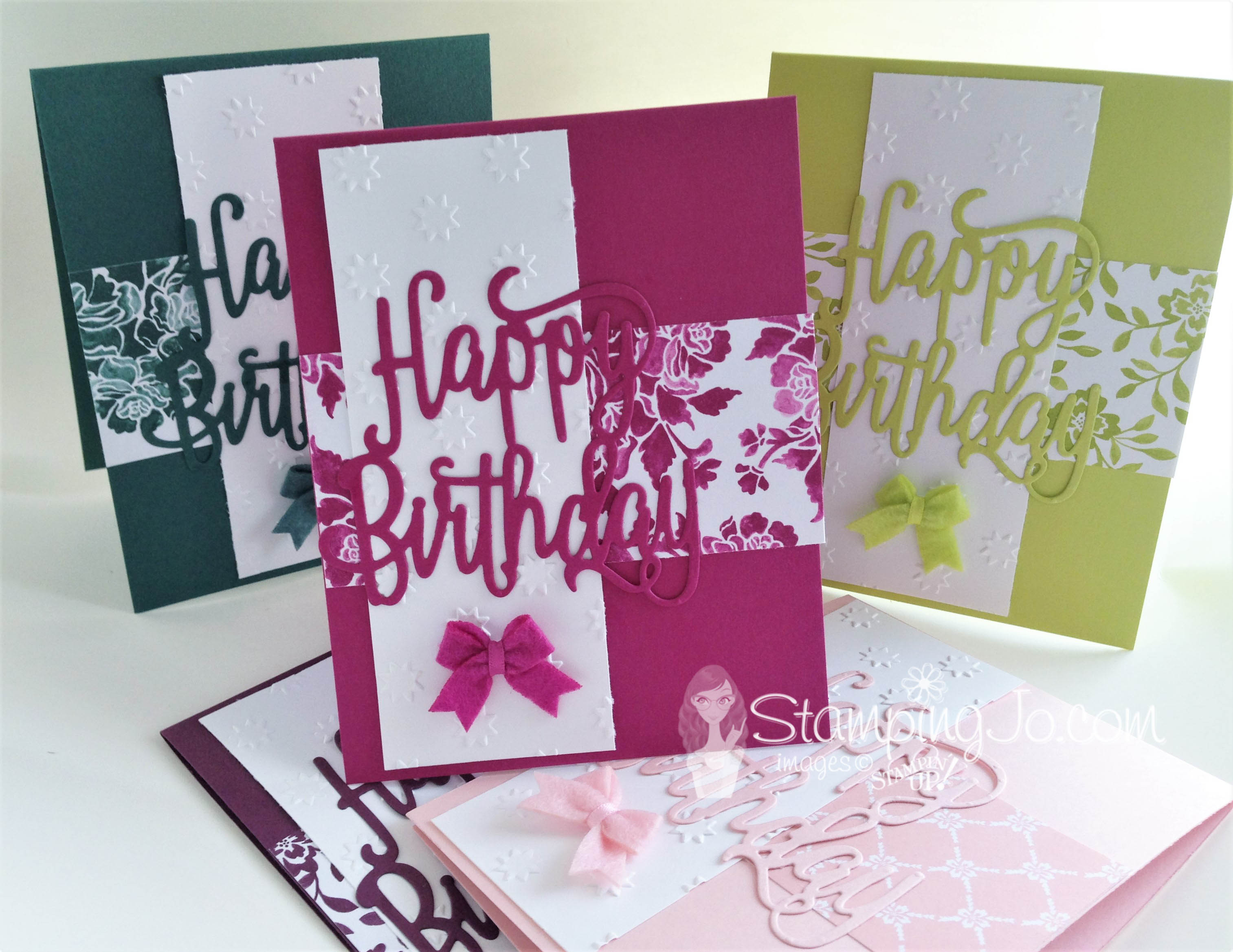 Stampin Up 2017-2019 In Colors, monochromatic cards