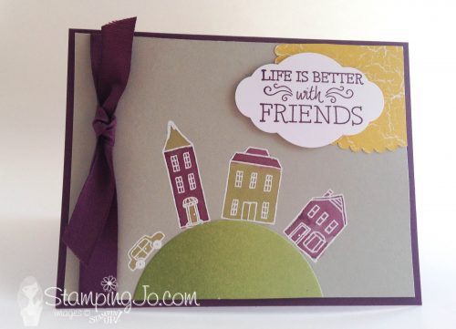 In the City, friendship card, Stampin Up