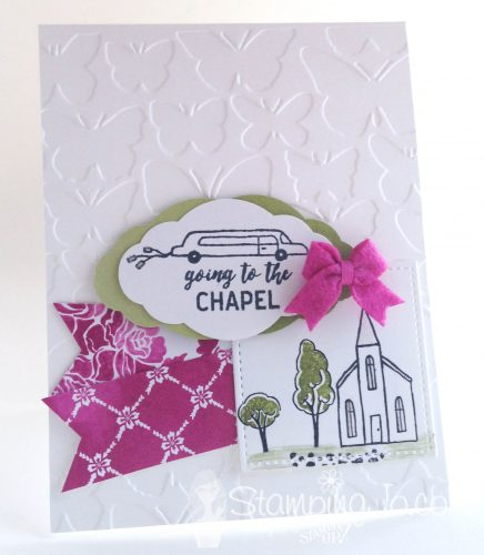 In the City, wedding card, Stampin Up