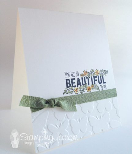 Just Add Text, Stampin Up