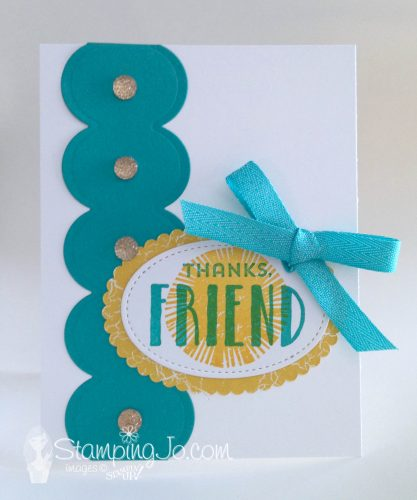 Scallop Borders for your stamped cards