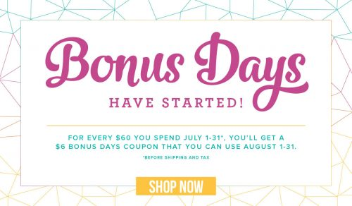 Stampin Up Specials: Bonus Days and Free Gift When You Join!