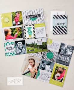 Perfect Days Memories and More Card Pack, Stampin Up, pocket memory keeping collection